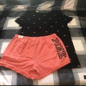 Pink victoria secret short outfit